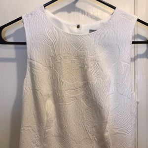 Adorable patterned white cocktail dress size 6